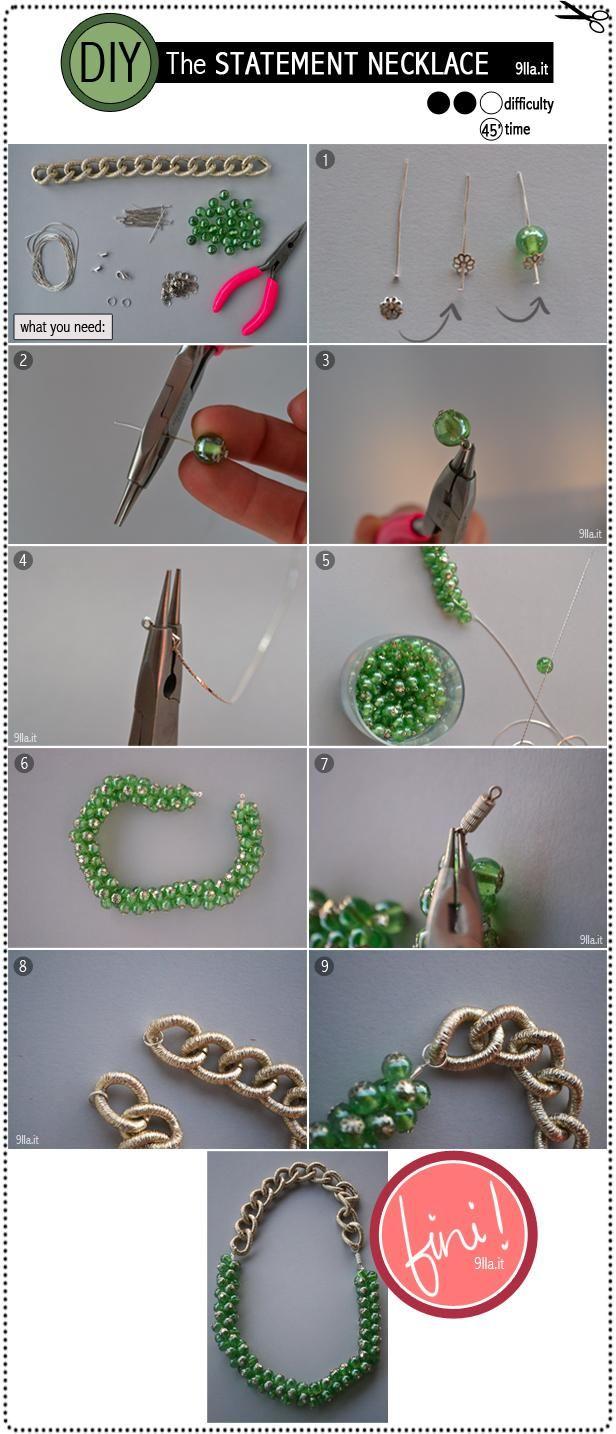DIY statement necklace | DIY statement ketting | www.bykaro.nl voor kralen, bedels en meer...