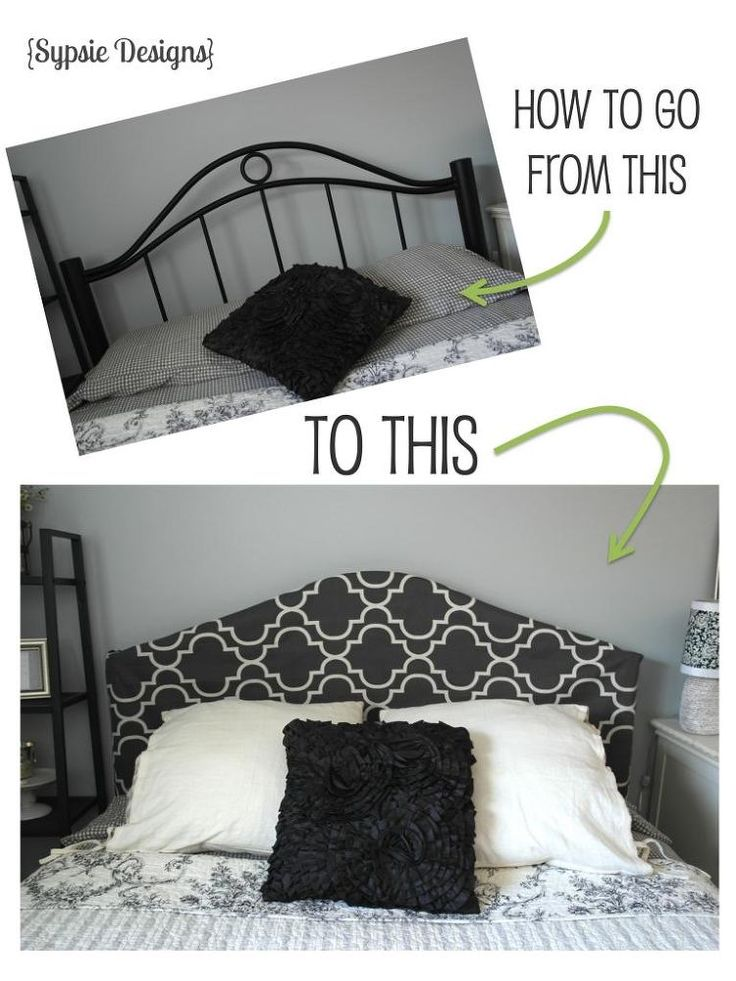 Easy Headboard Cover. The tutorial isn't very clear but love the idea. If you can sew, you can do this!!!