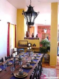Dining room at the Hacienda Dona Andrea
