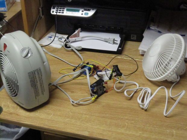 Picture of Arduino Thermostat with TC74 sensor