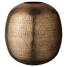Buy Day Birger et Mikkelsen Hammered Vase, H32cm, Gold Online at johnlewis.com