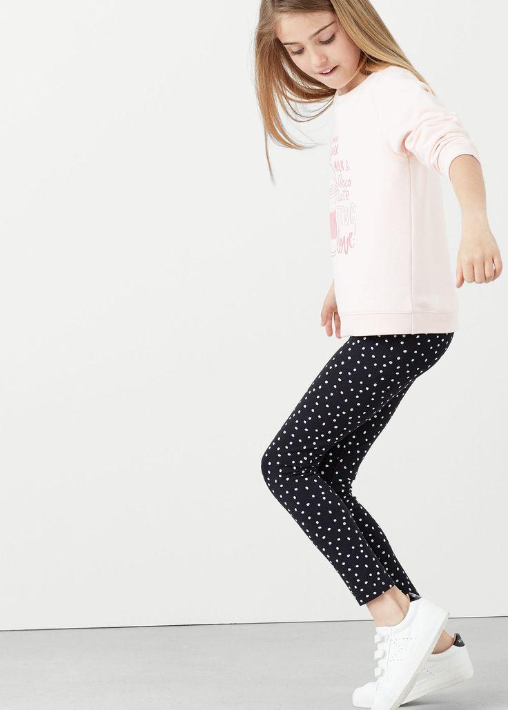 Bedrukte katoenen legging -  Kinderen | MANGO Kids Nederland
