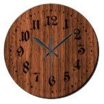 Brown Rustic Wooden Clock  #Brown+ #Clock #Rustic #RusticClock #Wooden The Rustic Clock