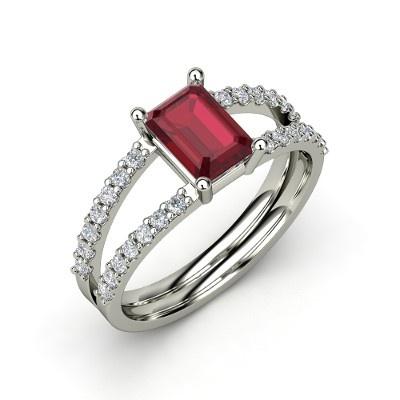 The Samantha Ring #customizable #jewelry #ruby #diamond #gold #ring