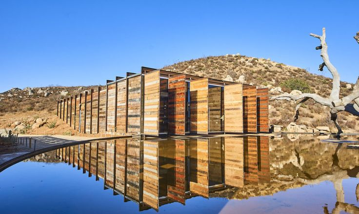 TAC Taller de Arquitectura Contextual designed the BRUMA winery, a chic winery in Mexico made from recycled materials and rammed earth.