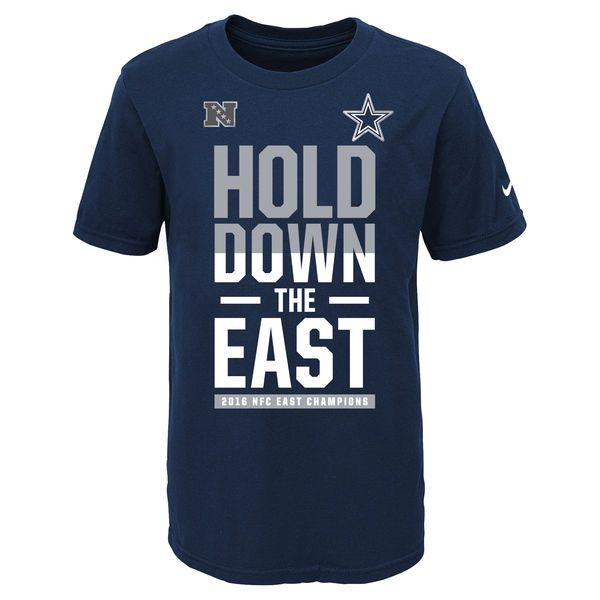 Dallas Cowboys Nike Youth 2016 NFC East Division Champions T-Shirt - Navy - $17.99