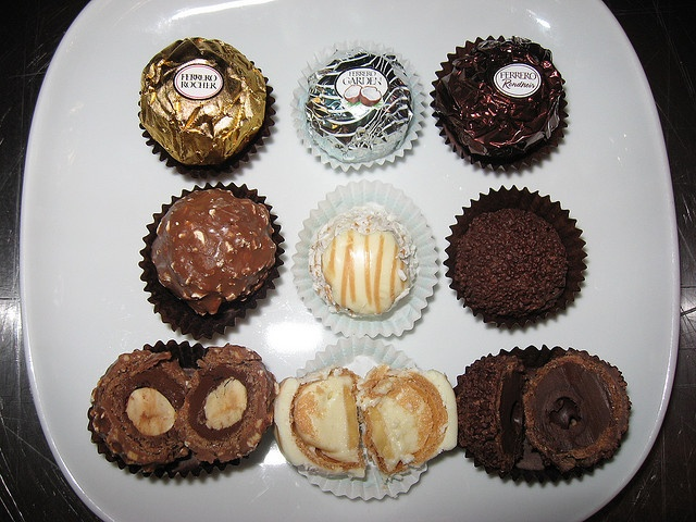 Ferrero Chocolates: Ferrero Rocher, Ferrero Garden Coco, Ferrero Rondnoir. Rondnoir is the best.chocolate.ever