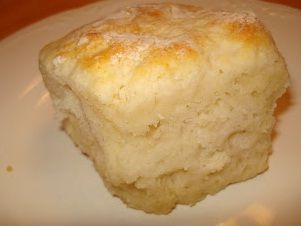 2 cups Bisquick  1/2 cup sour cream  1/2 cup 7-up  1/4 cup melted butter   How to make it :            Cut sour cream in...