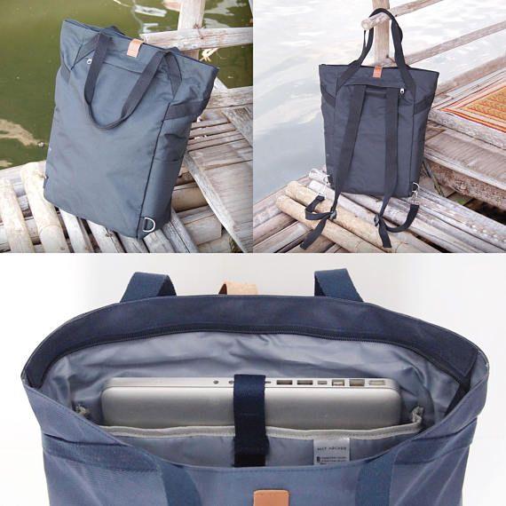 MONO Backpack/Tote Blue/BeigeWaterproof Laptop Notebook