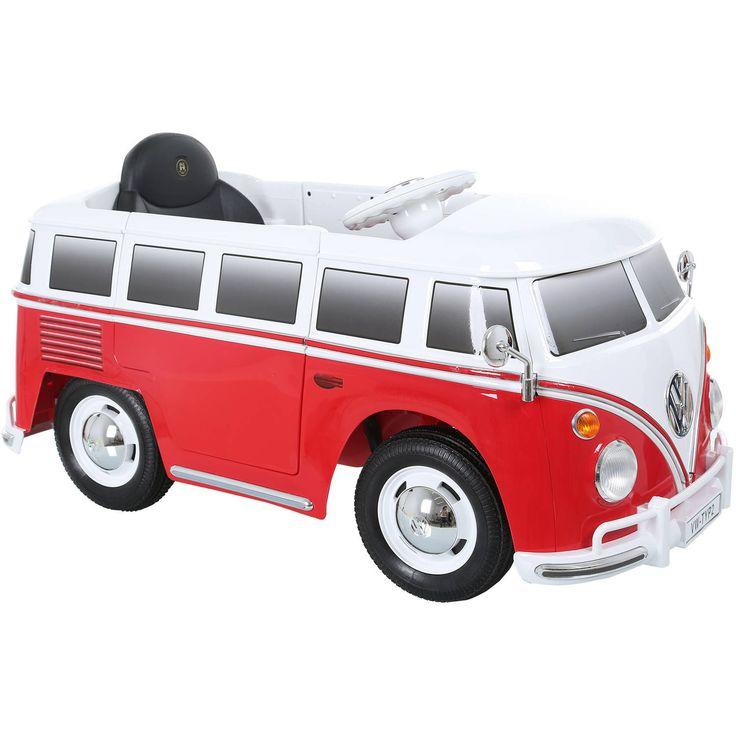 VW T1 elettrico per bambini. Guida dall'abitacolo o tramite telecomando. Lettore MP3. - INFO: autogold@autogold.it - #vw #t1 #vwt1 #toy