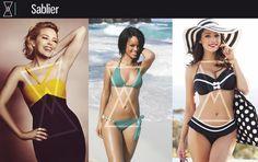 Silhouette sablier : Berry, Rihanna, Kylie Minogue, Miley Cerus, Kelly Brook  X: Madonna, Liz Hurley.  8: Sophie Marceau, Brigitte Bardot, Danièla Lumbroso, Monica Belucci.