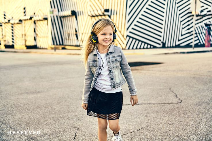Reserved Kids SS16 #black#skirt#denim#jacket