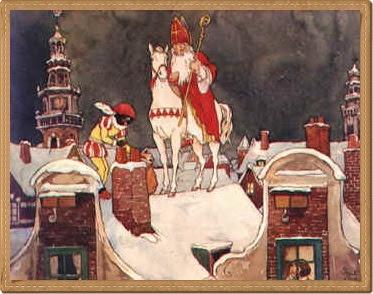 Sinterklaas, vintage illustration