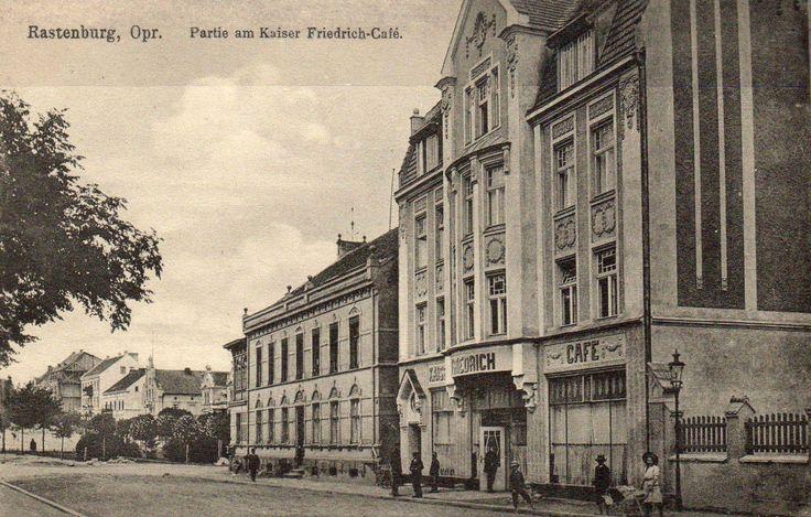 Rastenburg, Opr. Partie am Kaiser Friedrich Cafe. 27.10.1915.