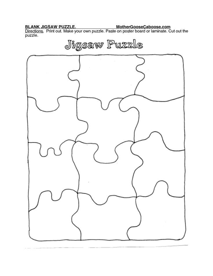 25 Best Ideas About Puzzle Piece Template On Pinterest