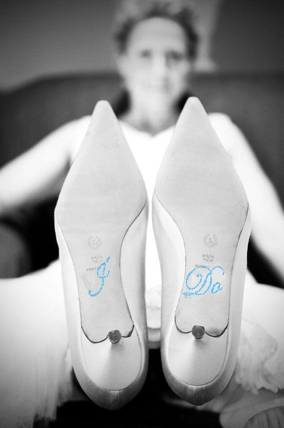 Crystal I DO Wedding Shoe Stickers in Blue 20% OFF Today