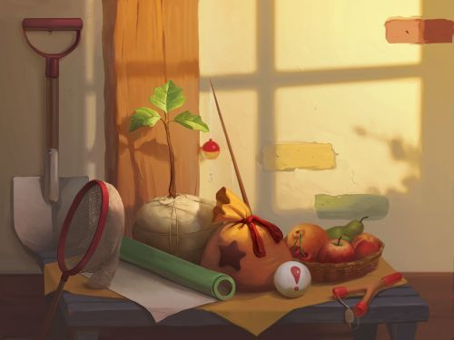 Hi everyone, have an Animal Crossing Still Life!  Hope you're having a lazy afternoon. :):