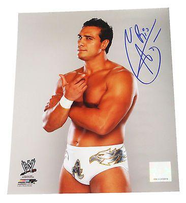 WWE ALBERTO DEL RIO HAND SIGNED 8X10 PHOTO FILE W/ PROOF 3
