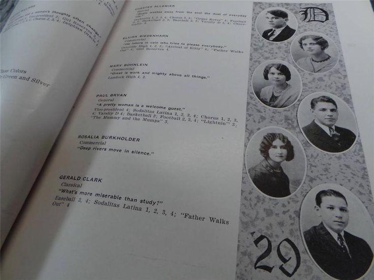 1929 DELPHOS Jefferson HIGH SCHOOL Ohio YEARBOOK Annual The Delphi