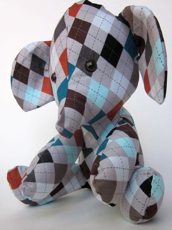 Stuffed Elephant Plush Toy Baby Nursery by KaleidescopeStitches, $29.00