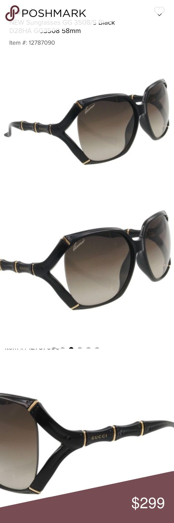 GUCCI sunglasses GG 3508/S Black D28HA 58 mm💝 Price*$399.99 Brand Gucci•In stock Brand: Gucci, Model: GG 3508/S, Color Code: D28HA, Lens Color: Brown gradient, Frame Color: Black and gold, Gender:, Size: 58/16/110, Made: ... Gucci Accessories Sunglasses