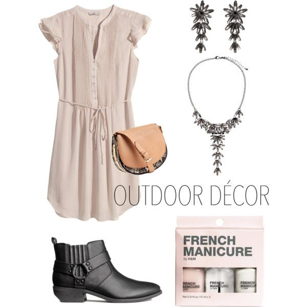 H&M dress - outdoor decor