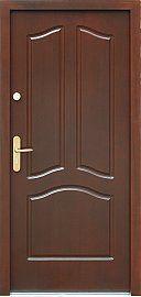 Drzwi antywłamaniowe wejściowe do domu / mieszkania wzór  501,2 w kolorze orzech