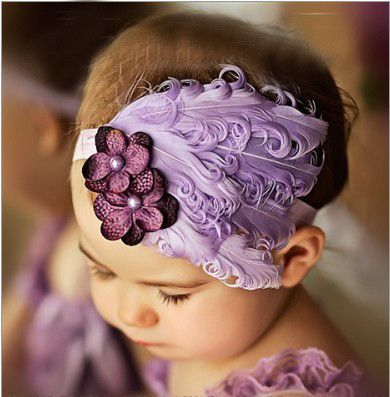 Elegant Headband with Feather, Flowers, Bows, Stones and Pearls | 20 Colors and Styles