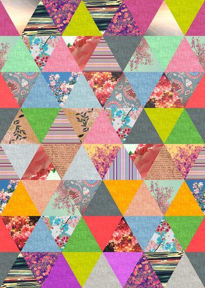 geometric / floral pattern