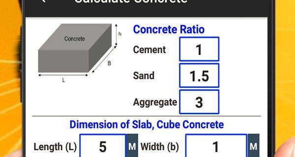 برنامج حساب كميات السقف الهوردي وتقديرات مواد البناء Concrete Ratio Concrete Cement Concrete
