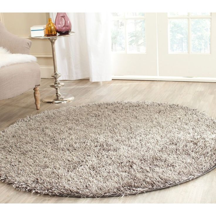Exceptional Safavieh Medley Grey Textured Shag Rug Round)   Overstock™ Shopping   Great  Deals On Safavieh Round/Oval/Square