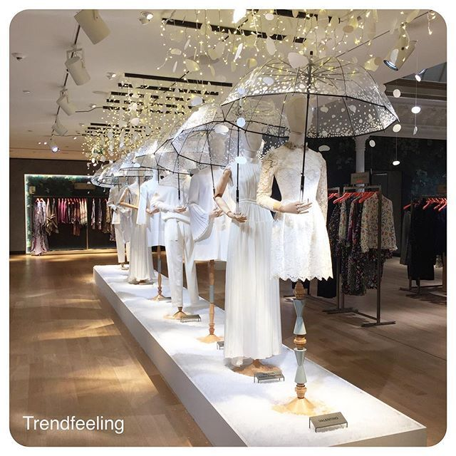 WEBSTA @ trendfeeling - Repetitive focus points @LeBonMarcheRiveGauche in #Paris for #Christmas with a beautiful ceiling installation. #Trendfeeling#Merchanfeeling