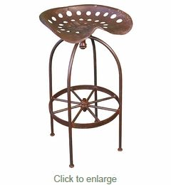 Iron Tractor Seat Bar Stools each with order minimum or 2 w x