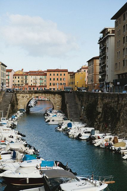 Livorno, Italy, our accidental destination when we got on the wrong train from Pisa!