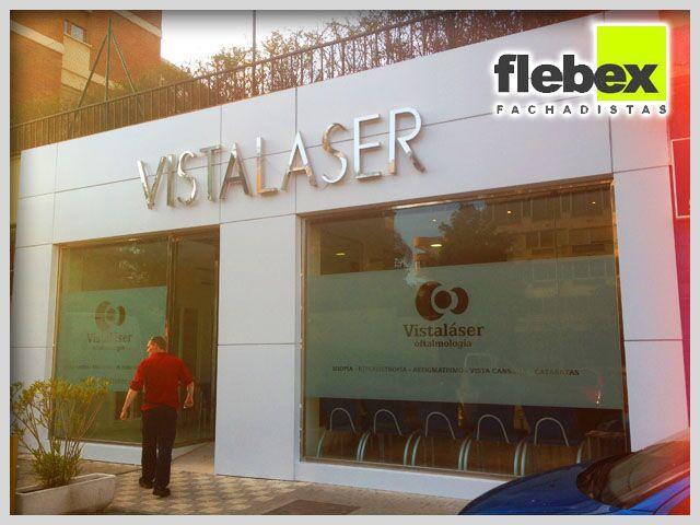 Una de las cadenas de clinicas con mas prestigio en tratamientos de cirugia laser ocular elige a flebex para el rediseño de sus fachadas con panel composite