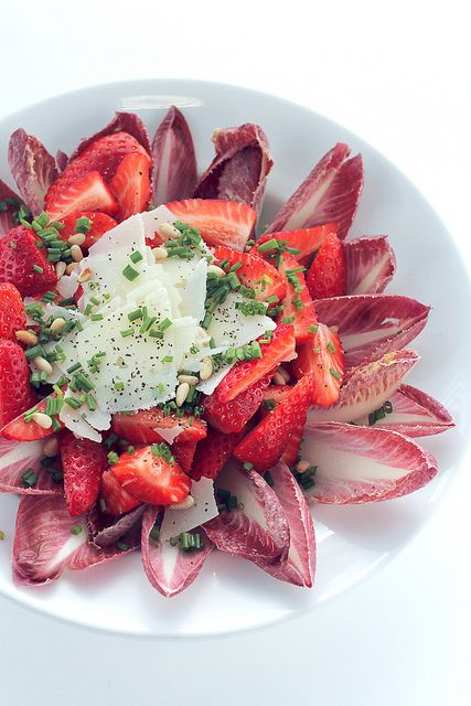 Strawberries, Parmigiano and Chicory by Salad Pride, via Flickr