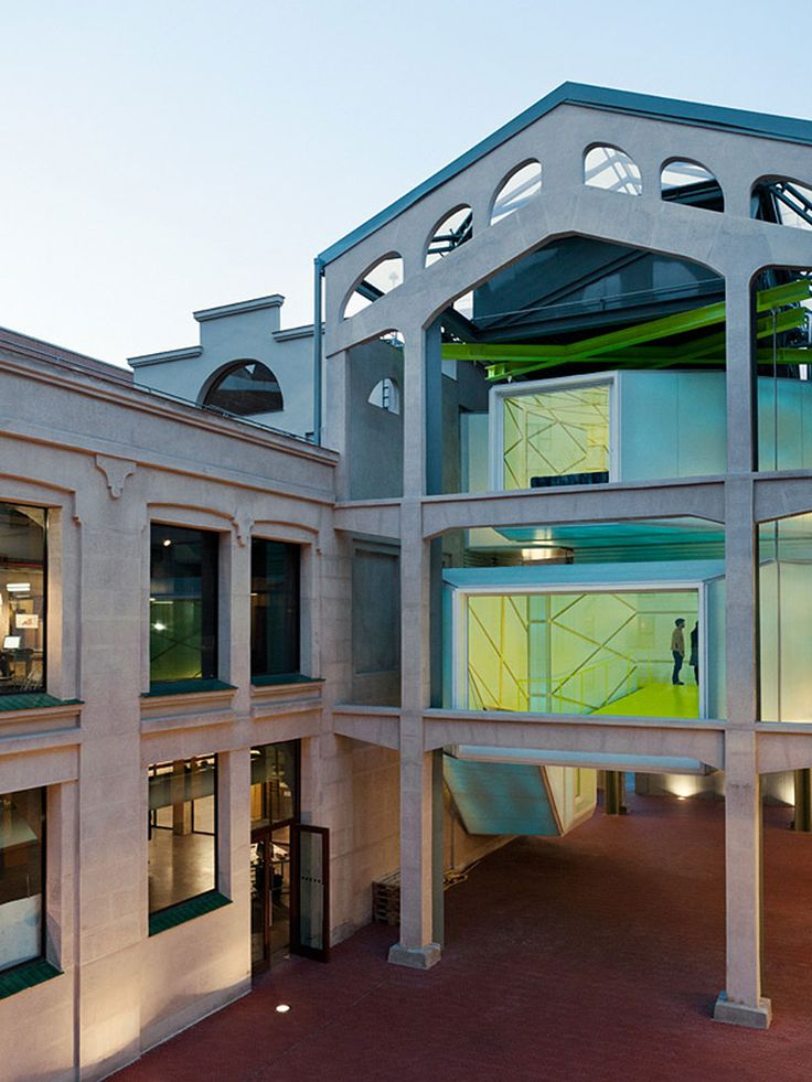 langarita navarro's medialab prado exhibits a colorful industrial modernism