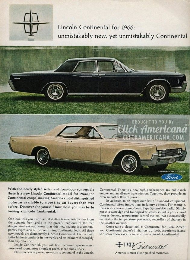 56 best cruisers images on pinterest classic trucks old school distinguished lincoln continentals from the mid sixties fandeluxe Images