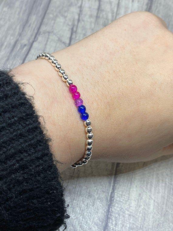 Cotton Cord Bracelets with Stars Casual Friendship Clasp Bracelet Beaded Macrame Purple Silver Bracelet BFF gift