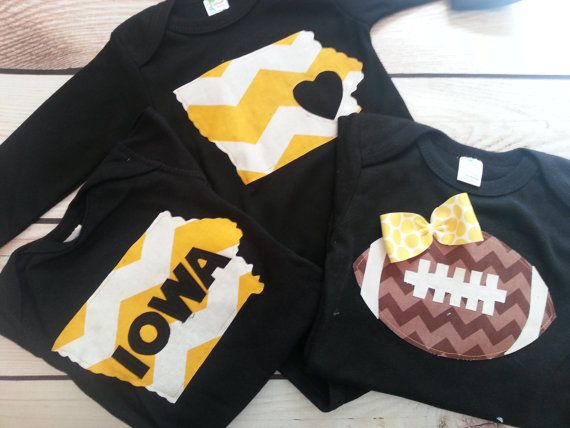 Hey, I found this really awesome Etsy listing at https://www.etsy.com/listing/165309504/iowa-hawkeye-onesies-you-select-the
