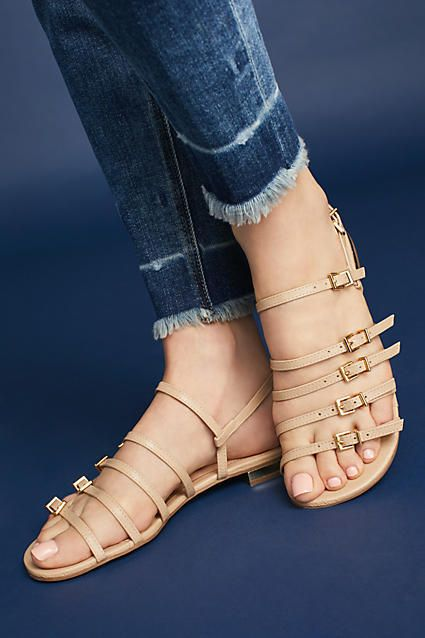 Raphaella Booz Strappy Leather Sandals