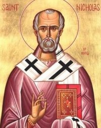 December 6, 345 (traditional date): Nicholas, bishop of Myra, one of the most popular saints in the Greek and Latin churches, dies. Eventually, stories of his generosity and cheer became part of the Christmas tradition, and St. Nicholas became the basis for Santa Claus.