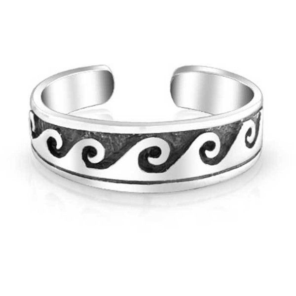 Bling Jewelry Chill Wave Toe Ring Body Jewelry (17 CAD) ❤ liked on Polyvore featuring jewelry, rings, body jewelry, grey, toe-rings, grey jewelry, sterling silver body jewelry, body jewellery, nautical jewelry and sterling silver jewellery