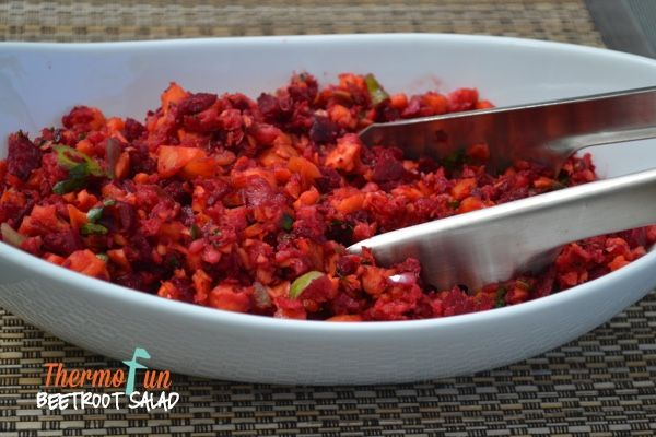 The Thermomix Beetroot Salad recipe which is in the Every Day Cookbook and the Basic Cookbook is so popular.  It is such a healthy, quick and easy salad to whip up.  If you do not like the taste of fresh coriander you can substitute it with fresh mint. On my ThermoFun facebook page I asked …