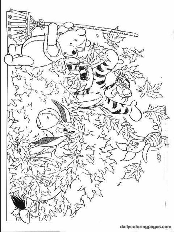 Autumn Coloring Pages Disney : Autumn coloring pages winnie the pooh fall