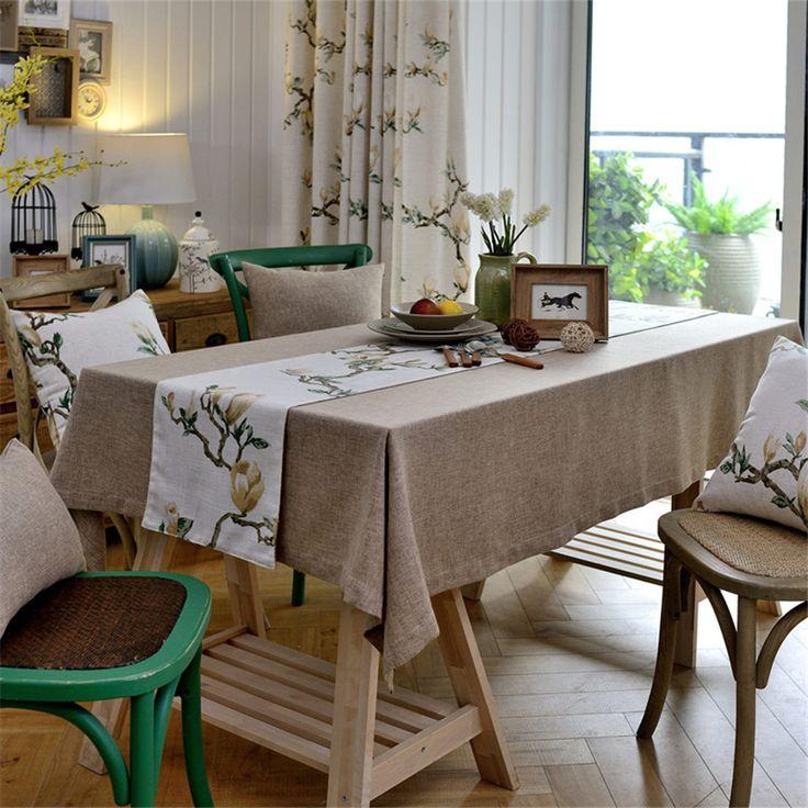Tampas Da Cadeira Rodada Floral de Linho toalha de mesa Para O Casamento de Lantejoulas Toalha De Mesa Redonda Toalha de Praia Bordado Toalha de mesa Redonda QQO598