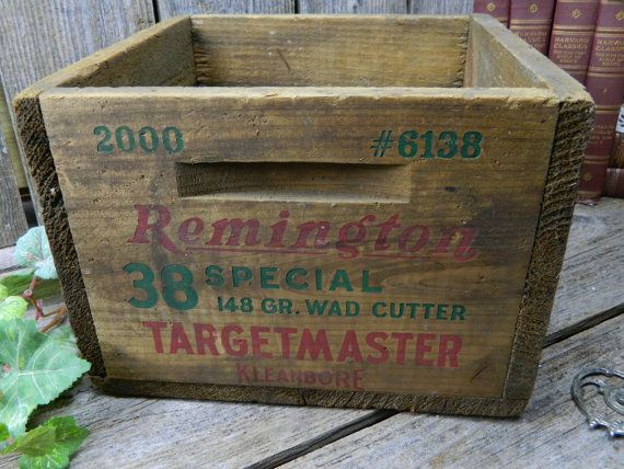 Vintage Remington Wood Ammo Box 38 Special by allthatsvintage56 & 266 best Shotguns images on Pinterest   Shotguns Shotgun shells ... Aboutintivar.Com