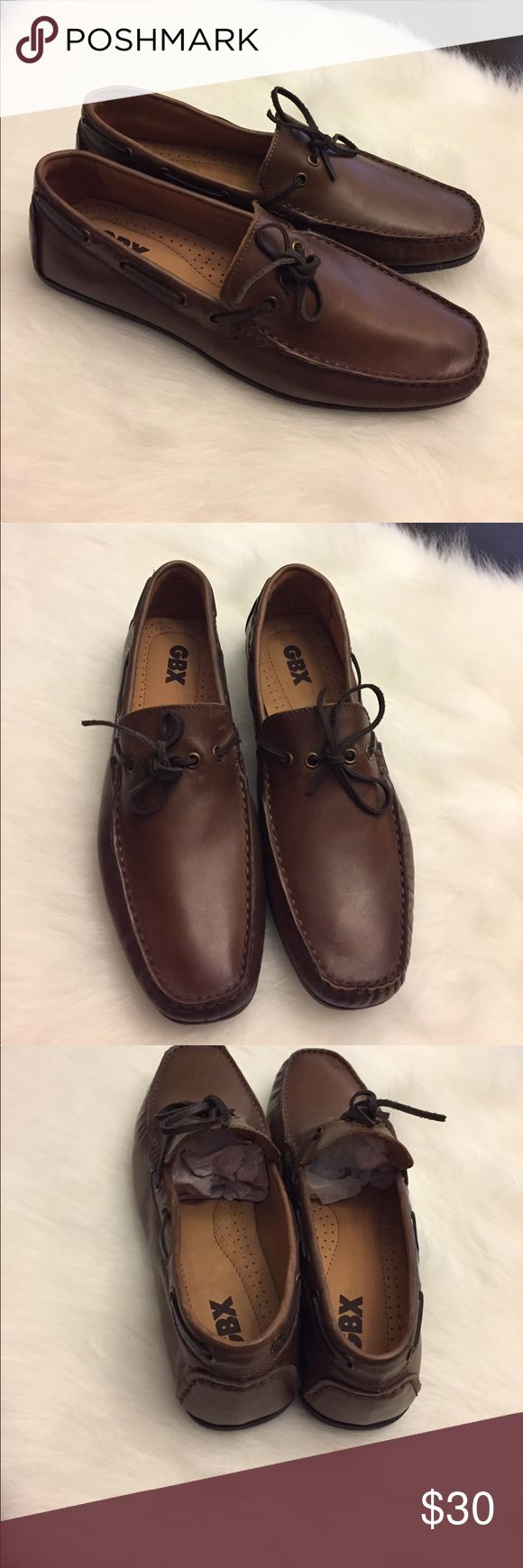 GBX Men's Casual Loafers Slip On Shoes Size 9.5 GBX Men's Shoes  style: Henley  size: US 9.5  color: Brown These are brand new without tags and box. Men's size 9.5. They are new but have a few scratches which you can see in the pictures but aren't that noticeable. Stylish shoes. Please check out my other listings! Thanks! GBX Shoes Loafers & Slip-Ons