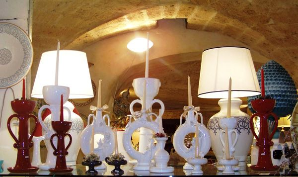 g87 I think these are candleholders! Made by Ceramiche Nicola Fasano, Italian Pottery