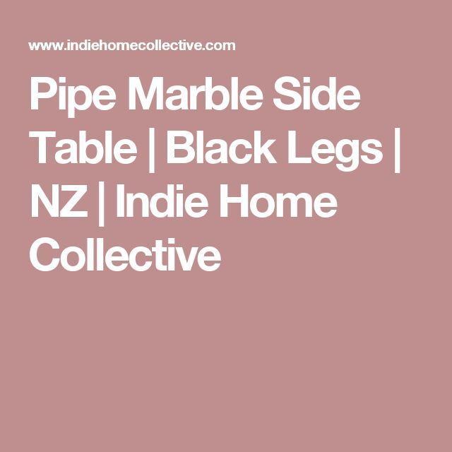 Pipe Marble Side Table | Black Legs | NZ | Indie Home Collective